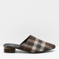 Berrybenka Sepatu Wanita Mules Shoes Lorra Decyta Square Mules Brown