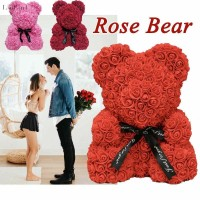 [COD] 40cm Bunga Mawar / Beruang / Hati Bahan Foam untuk Dekorasi