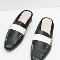 Berrybenka Sepatu Wanita Mules Shoes Laurent Febitha Monochrome Mules