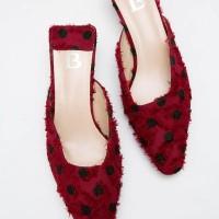 Berrybenka Sepatu Wanita Mules Shoes Lonna Decyta Polkadot Mules