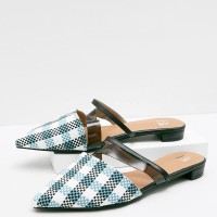 Berrybenka Sepatu Wanita Mules Shoes Githa Juliette Snake Skin