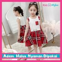 Dress Anak Perempuan Import Murah 3 - 12 Tahun Plaid