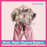 Baju Anak Perempuan / Setelan Anak Perempuan / Baju Anak Cewek - Flowr - 100