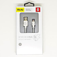 SKU-1118 KABEL USB LIGHTNING 1M MUJU 5A MJ-78 FOR APPLE IPHONE MJ78