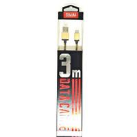 SKU-1124 KABEL USB MICRO 3M FAST CHARGING MUJU MJ-31 DATA ANDROID MJ31