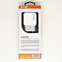 SKU-1126 CHARGER USB 2 PORT 2.4A MUJU MJ-A02 WALL CHARGING CAS MJA02