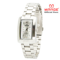 Jam Tangan Wanita Mirage Original 8194L Silver - Dial White