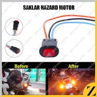 Saklar Switch Tombol Hazard On Off LED Motor Mobil Lampu UNIVERSAL