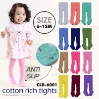 Celana Legging Bayi Polos Kaki Tutup anti slip 6-12bln CLB-6001