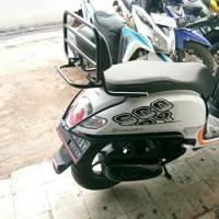 Aksesoris Backrack Plus Bantalan & Crashbar 1 Paket Buat Honda Scoopy