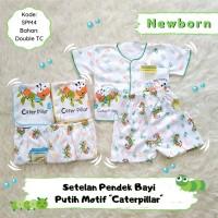 3 Setelan Bayi Baju Lengan Pendek Celana Pendek Bayi motif Caterpillar