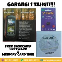 GPS Garmin Montana 680 + PETA INDONESIA GARANSI TAM