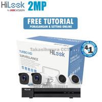 Paket CCTV 4 Kamera 2MP Hilook By HIKVISION Siap pasang FULL HD 1080P