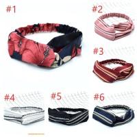 Bando / Bandana Karet Simpul Silang Korea Headband Elastis SH167B