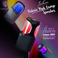 SPEAKER BLUETOOTH PORTABLE LENYES S807 LAMPU FABRIC RGB LAMP
