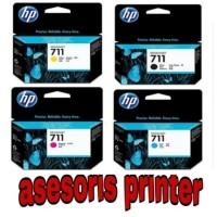 PAKETAN TINTA DESIGNJET INK HP 711 BLACK DAN COLOUR ORIGINAL