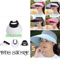 Topi fashion pantai/golf olahraga anti UV wanita import