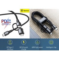 Baseus kabel Data Type C 60W PD 2 in 1 Type C iPhone Fast Charging