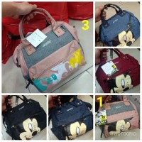 Tas tote premium import diapers anello mickey 3in1 ransel selempang