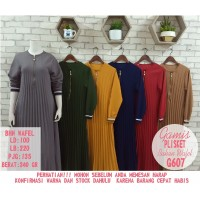 Dress Muslim Gamis Plisket Full Depan Busui