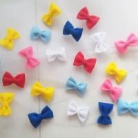 aplikasi bross pita tile / diy bross tulle bow