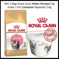 Promo Royal Canin Persian Kitten 2kg - Gratis Exclusive Pet Container