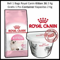 Promo Royal Canin Kitten 2kg - Gratis Exclusive Pet Container