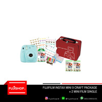 Fujifilm Instax Mini 9 Craft Kit + 2 Instax Mini Paper Film Single