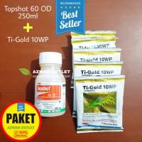Padi sawah bebas gulma topshot 250ml + Ti-Gold 5 pcs - paket herbisida