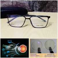 kacamata frame elastic lensa anti radiasi blue ray normal dan minus