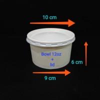 Paper bowl 12oz + lid.