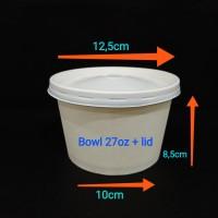 Paper bowl 27oz + lid.