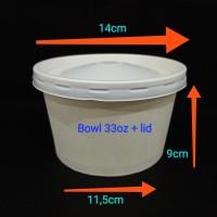 Paper bowl 33oz + lid.