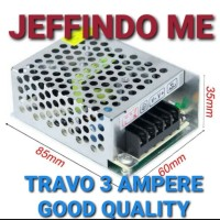 POWER SUPLY TRAVO 3A 3 A ADAPTOR 3 AMPERE 12 V INDOOR 36W