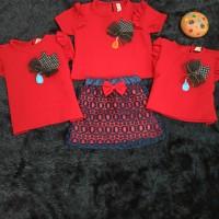 Pakaian Setelan Baju Dan Rok Anak Perempuan/Cewek