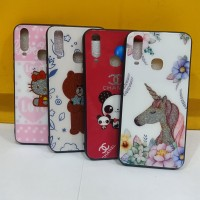 Case Diamond Glass LoveA Glitter VIVO Y12/Y15/Y17