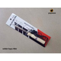solder kayu 40 watt / plastic 40 watt solder listrik soldering iron - SOLDER KAYU