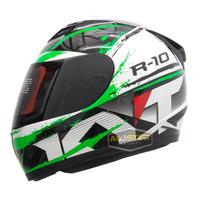 HELM KYT R10 MOTIF #2 BLACK/GREEN FLO