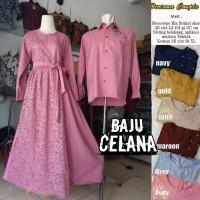 (Bisa Pisah) Gamis Brukat Modern // Couple Dress Muslimah / Ootd Busui
