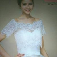 bolero Lace pesta pengantin wanita modern I cardigan wedding - BPW 001