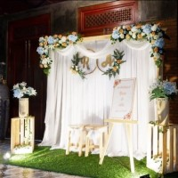 sewa paket dekorasi backdrop utk lamaran, akad nikah,wedding 2,2 meter