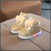 SH1930 Chubby Toodler Sepatu anak perempuan pesta boots Lampu import