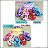 (size 30-35) sandal led karet anak LOL hello kitty