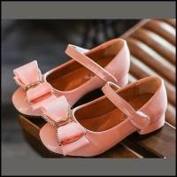 Sepatu Heels Anak Cewek Warna PINK Ribbon