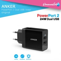 Anker PowerPort 2 Dual USB Wall Charger power IQ Original fast charger