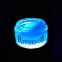 MURAH POMADE RITJHSON GLOW IN THE DARK BIRU BLUE WATERBASED (FREE