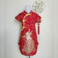 hoot sale Dress Cheongsam Imlek Anak Perempuan (Bunga Emas) terjamin