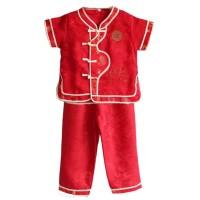 hoot sale Setelan Qipao Cheongsam Anak - Baju Pakaian Imlek Long Red