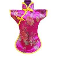hoot sale Baju Botol Cheongsam Merah Pink Fuschia Imlek Sincia Wine