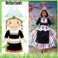 hoot sale Baju Kostum Negara Belanda size 2-7thn - 8-9 tahun terjamin